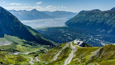 Aerial view of Girdwood