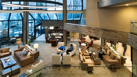 The lobby at Westin Snowmass Resort