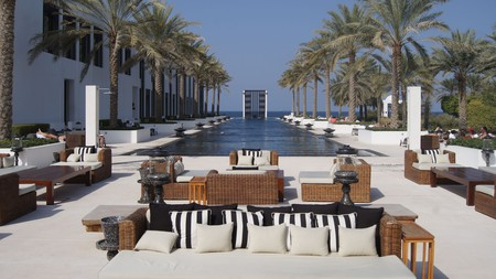 The Middle East's longest infinity pool at the Chedi Muscat, Oman