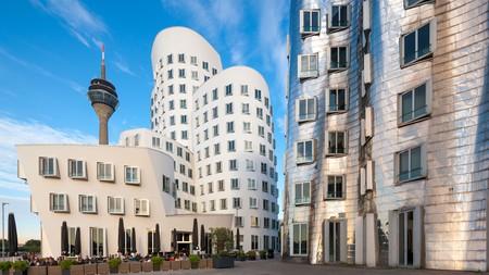 The Rhine Tower overlooks Düsseldorf's exciting architecture