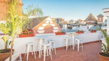 Relax on the terrace at Dulces Dreams