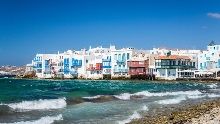 Live out your Greek goddess fantasies at one of the top-quality resorts on the island of Mykonos