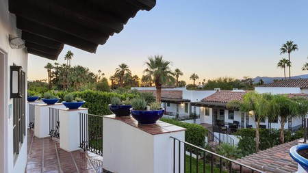 Enjoy a Palm Springs sunset from the comfort of your own balcony