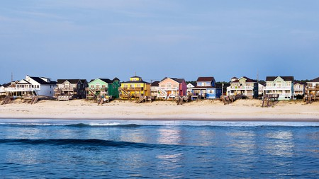 Houses overlook the water on North Carolina's Outer Banks