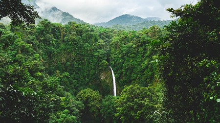Deep in the rainforest, La Fortuna waterfall is one of Costa Rica's many natural wonders