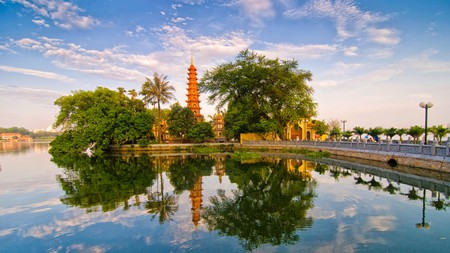 Hanoi is the perfect getaway for culture vultures, who can bask in the ancient history of Vietnam's capital with picturesque monuments like the Tran Quoc Pagoda