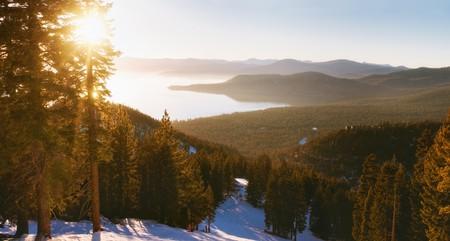 Sunset in Lake Tahoe's Heavenly Ski Resort