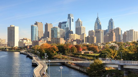 Take a stroll along the Schuylkill Banks Boardwalk in Philadelphia with your sweetie