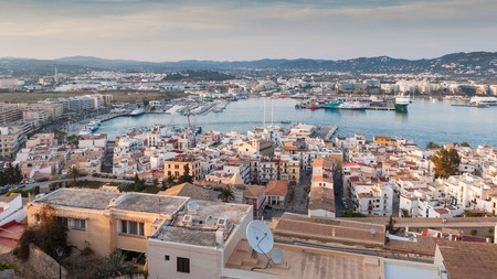 Enjoy views of Ibiza Old Town and the harbour