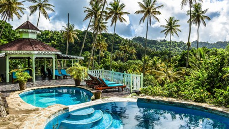 Lush forests and spectacular scenery surround the hotels on St Lucia
