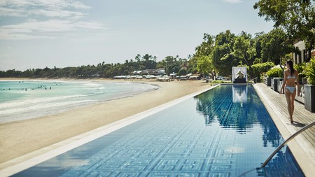 Book an oceanview villa at the Four Seasons Resort in Bali for unrivalled views of Jimbaran Bay