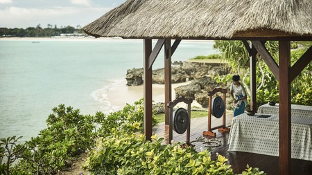 Sweeping views of the Indian Ocean are part of the glamour at the Four Seasons Resort Jimbaran Bay
