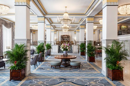 Enjoy the opulent interiors of the Francis Marion Hotel before heading to the Citadel