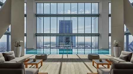 Take in the scenes of Philadelphia from the pool at the Four Seasons Hotel