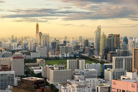 This aerial view of Bangkok's business district is impressive but with our recommendations, take your mind off work and relax in one of the city's best resorts