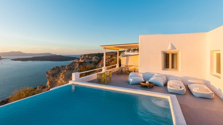The Grand View, overlooking the Aegean, certainly delivers on its promise