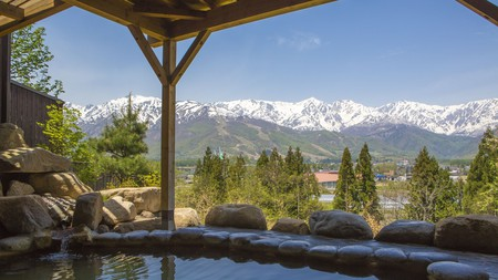 View from the hot springs at Hakuba Highland Hotel