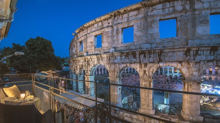 Get a gorgeous view of the Pula Arena at the Arena and Sea View Luxurious Residence