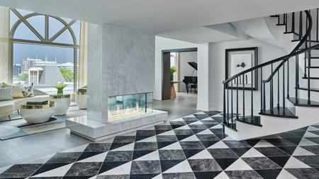 Hotel Crescent Court's decadent loft suite