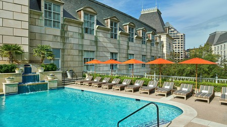 Hotel Crescent Court in Dallas, Texas is a heavenly haven, with large in-room soaking tubs, and a spa with hot and cold plunge whirlpools; you can't put a price on relaxation of this calibre