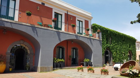 Balconies at Hotel Etna in Catania