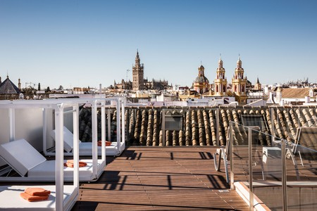 Head to the rooftop of Hotel Palacio de Villapanes for views over the city