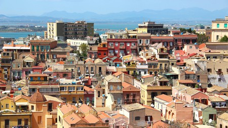 Cityscape of Cagliari, Sardinia in Italy, which boasts hotels for every traveller