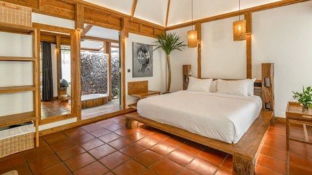 A stylish en-suite room at Kuno Villas