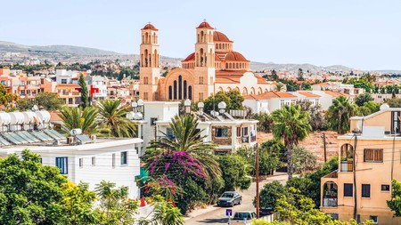 Paphos, Cyprus, with the Orthodox Cathedral