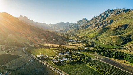 Stellenbosch is set in the heart of South Africa's spectacular wine country
