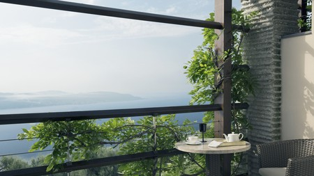 The wisteria-framed view at Lefay Resort & Spa