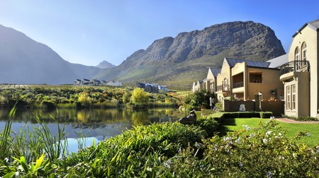 Enjoy spectacular views of Franschhoek from L'Ermitage Chateau or explore the other accommodation options nearby