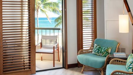 The outdoor tropical paradise comes inside at the Sheraton Kauai Coconut Beach Resort