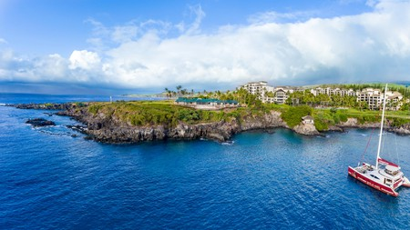 Montage Kapalua Bay on the coast of Maui is one of Hawaii's most luxurious resorts