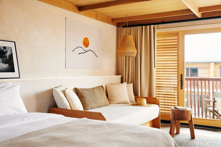 Come and relax in the sand-hued rooms at the Marram in Montauk, New York