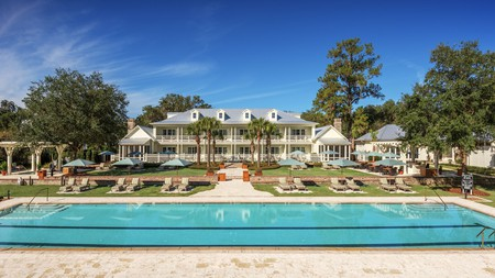 The Montage Palmetto Bluff hotel experience includes a decadent spa, golfing, tennis, and beachside luxury on Hilton Head Island, South Carolina