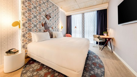 Nhow Amsterdam RAI is one of the artiest hotels in Amsterdam