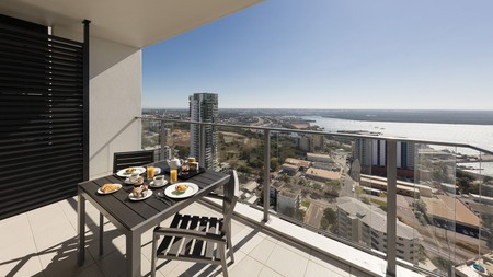 The Oaks Darwin Elan Hotel has some of the best views in the city