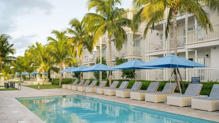 Key West's Oceans Edge Resort and Marina has six heated pools, perfect for relaxing