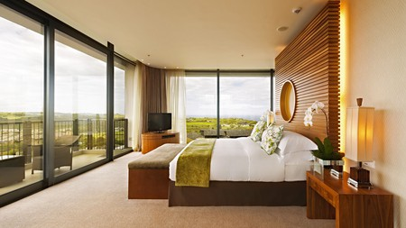 Oubaai Hotel Golf & Spa offers stunning views of George and the surrounding South African landscape