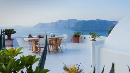 Enjoy Santorini's cliffside views on a stay in Oia