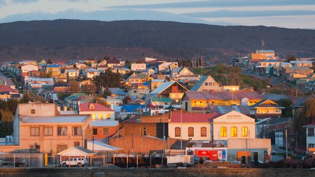 Sunrise in Punta Arenas, on the shores of the Strait of Magellan