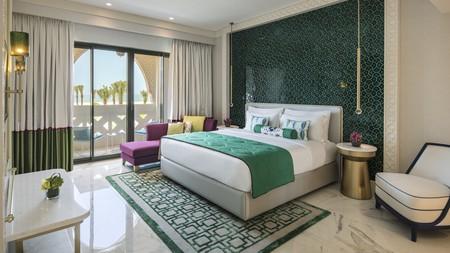 Rooms at the Rixos Premium Saadiyat Island in Abu Dhabi have a luxurious Mediterranean-meets-Middle-East theme