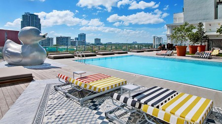 The SLS Brickell boasts four swimming pools and a rooftop spa – one of Miami's great hotel options