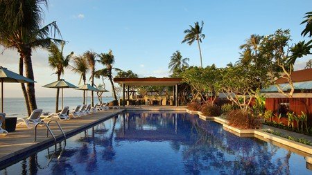 The Anvaya Beach Resort Bali has multiple pools where you can relax and cool off