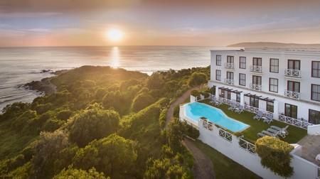 The Plettenberg Hotel overlooks the Indian Ocean