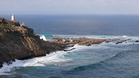 The Point Hotel & Spa is built on the rocks below St Blaize Lighthouse