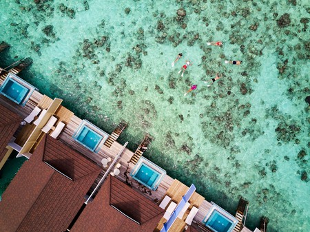 Explore the local reefs just beyond your private deck