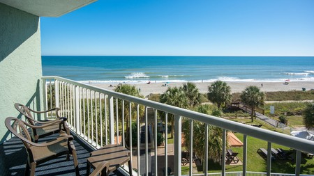 Enjoy ocean views from your balcony at the Strand Hotel