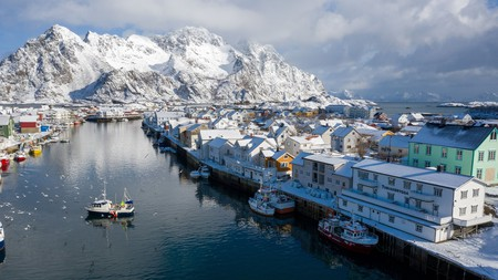 The Norwegian fishing village of Henningsvær is a picturesque place to book a holiday apartment